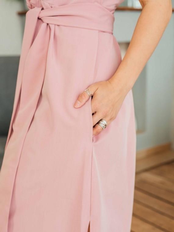 Платье женское -рубашка пудра Vikki Kids