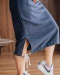 Худи женское платье синий Vikki Kids