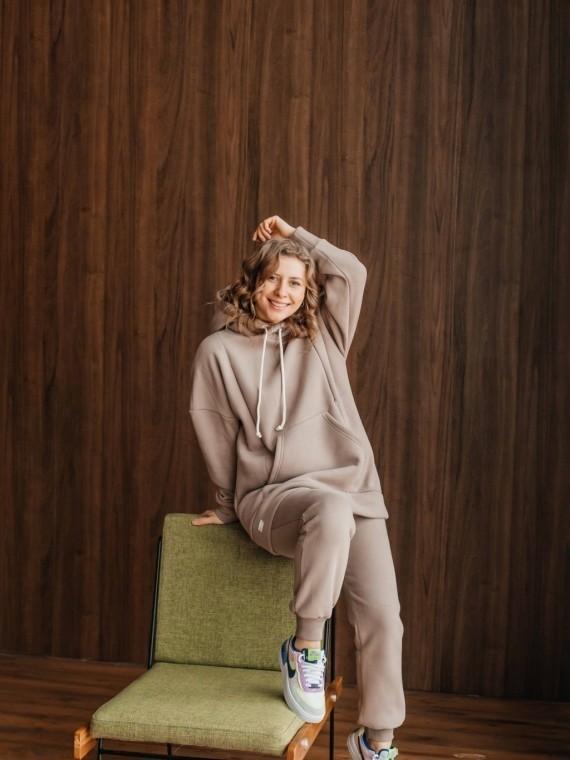 Костюм женский трикотажный с начесом какао Vikki Kids