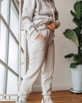 Костюм женский трикотажный с начесом светло-серый Vikki Kids