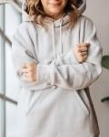 Свитшот женский трикотажный с начесом светло - серый Vikki Kids