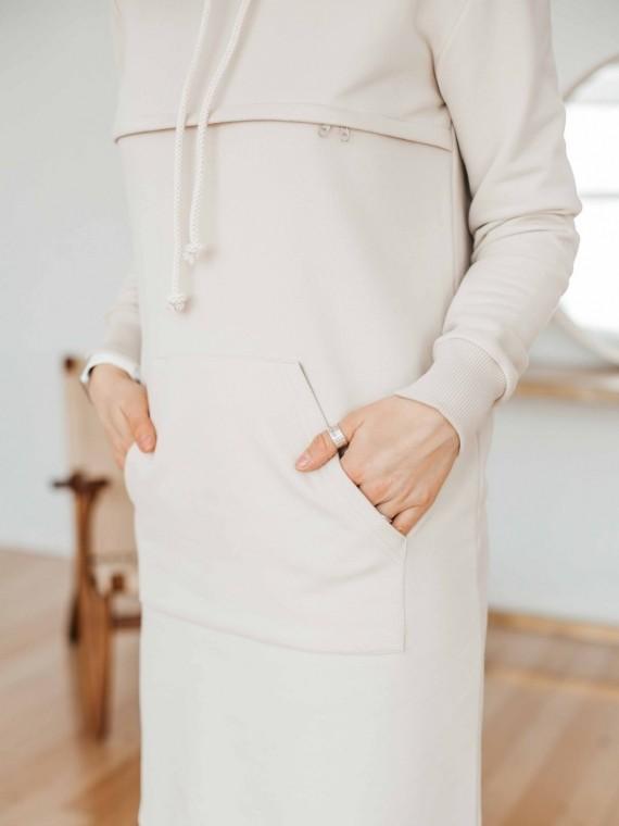 Худи женское платье песок Vikki Kids