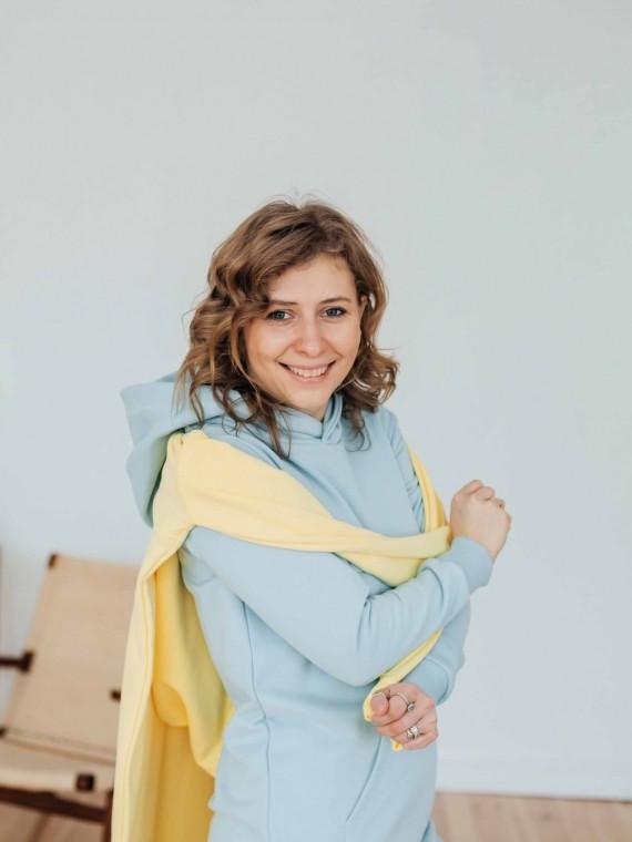 Худи женское платье небесно - голубой Vikki Kids