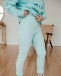 Костюм женский трикотажный с лосинами небесно -голубой Vikki Kids