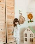 Пижама детская с футболкой с длинными рукавами и брюками лисички Vikki Kids