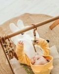 Комбинезон хлопковый капитоний молочно -желтый Vikki Kids