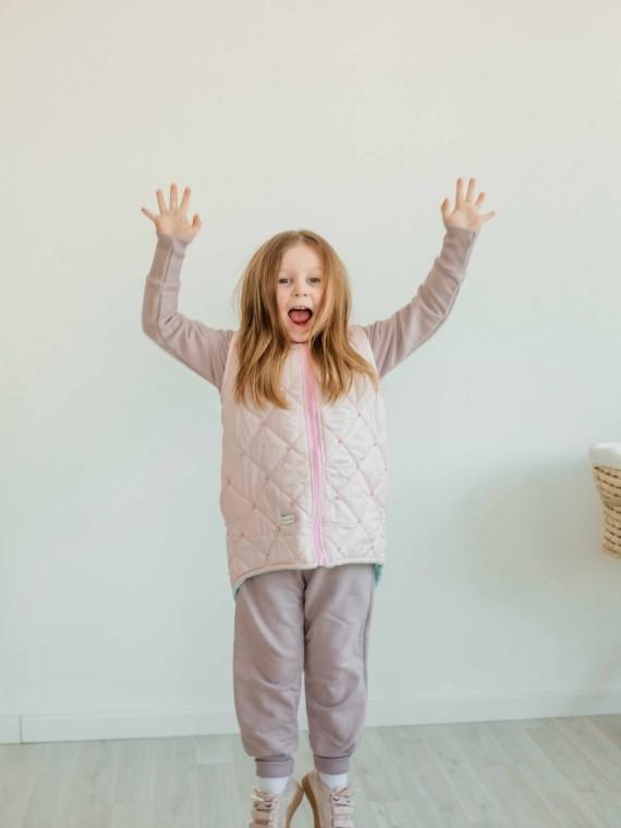Дино - жилетка розово-мятная Vikki Kids