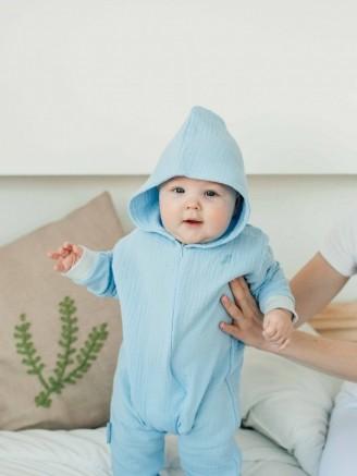 муслиновый небесно - голубой Vikki Kids