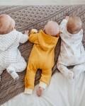Комбинезон муслиновый белый со звездочками Vikki Kids