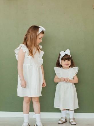 """муслиновое """"Крылышки"""" Белое Vikki Kids"""