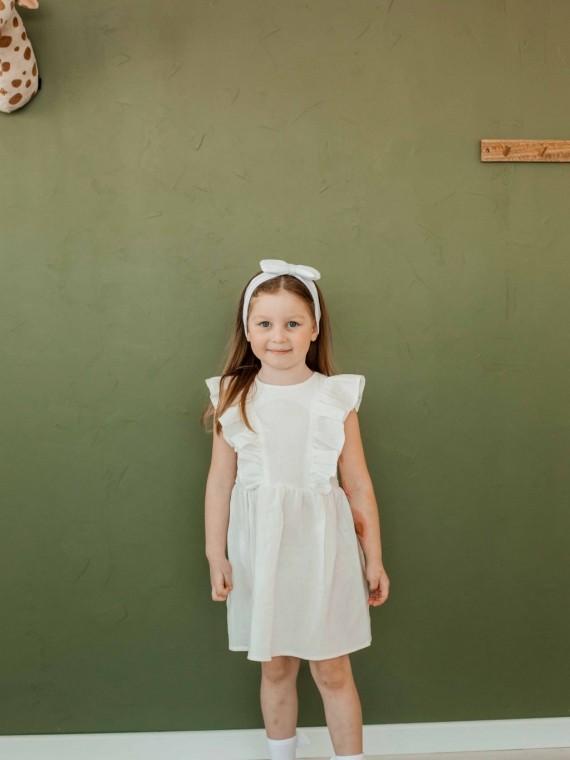 "Платье детское муслиновое ""крылышки"" белое Vikki Kids"