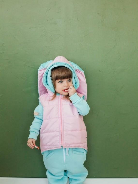 Дино - жилетка розовая зайка Vikki Kids