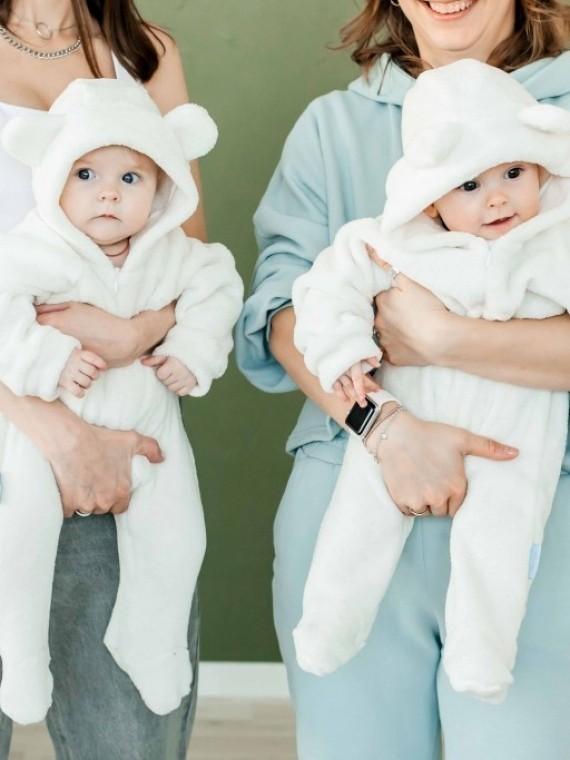 Комбинезон -мишка плюшевый молочный Vikki Kids