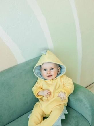 -дино трикотажный лимон Vikki Kids