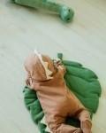 Комбинезон -дино трикотажный корица Vikki Kids