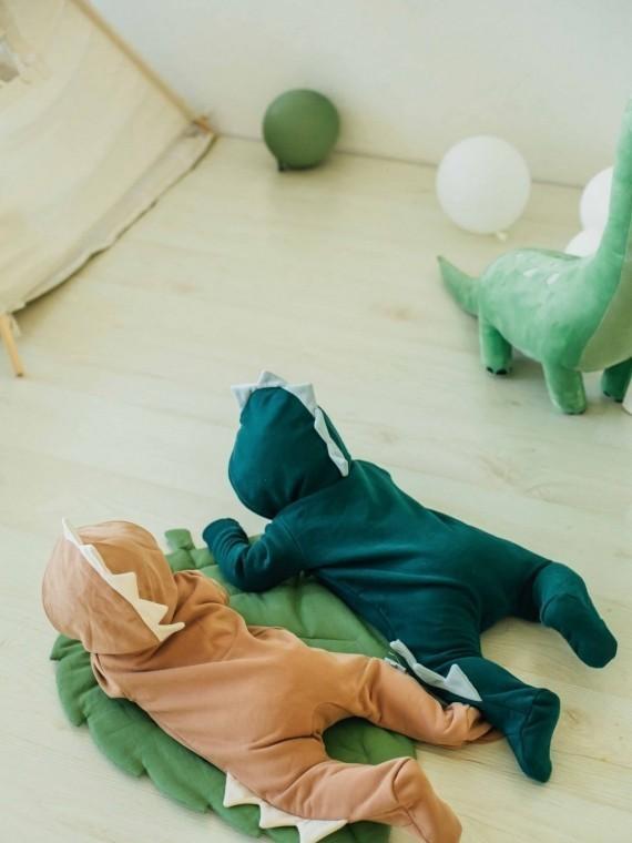 Комбинезон -дино трикотажный зеленая ель Vikki Kids