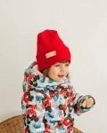 Шапка трикотажная красная Vikki Kids