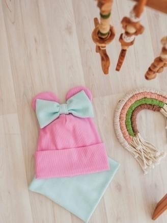 трикотажная розовая с ушками Vikki Kids