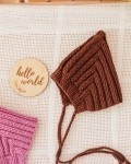 Шапка вязаная шоколад Vikki Kids