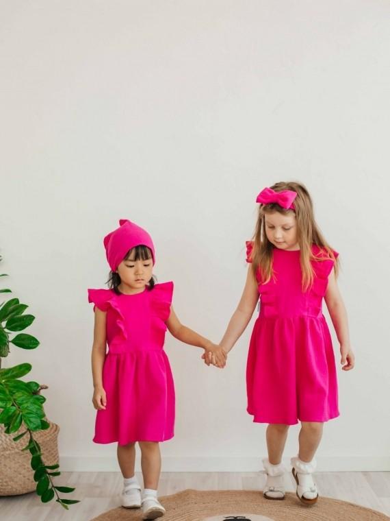 "Платье детское муслиновое ""крылышки"" фуксия Vikki Kids"