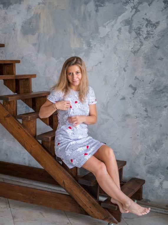 Платье женское домашнее звезды Vikki Kids