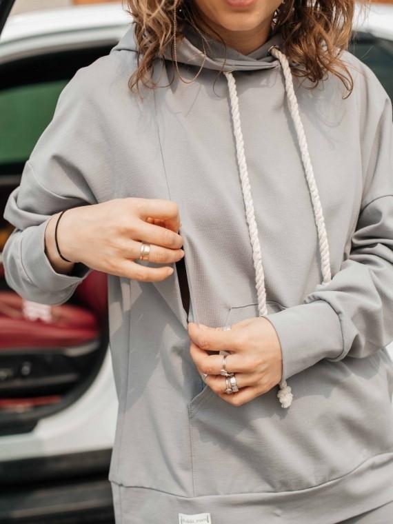 Костюм женский с бриджами серый Vikki Kids