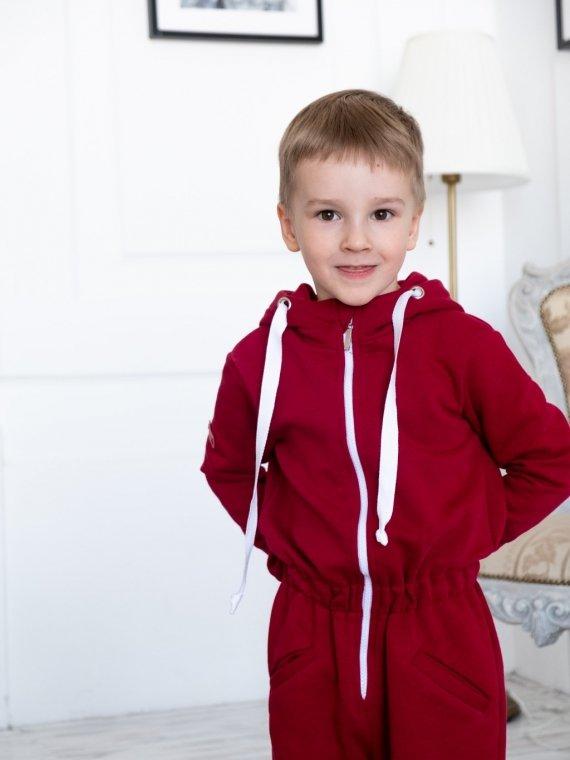 Комбинезон трикотажный бордо Vikki Kids