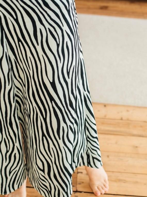 Юбка женская с принтом зебра бирюза Vikki Kids