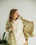 Костюм женский с начесом и велюр- эффектом в цвете песок Vikki Kids