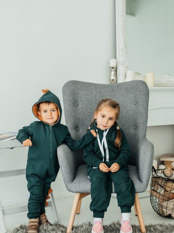 Комбинезон трикотажный зеленая ель Vikki Kids